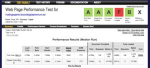 Test de velocidad Webpagetest.org