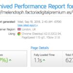 Test velocidad sobre Factoria Digital GTMetrix