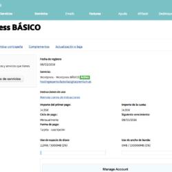 WordPress básico del hosting de Factoría Digital