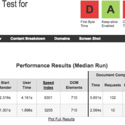 Hostinger test de velocidad con Webpagetest.org