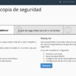 Webempresa crear copias de seguridad mediante el cPanel