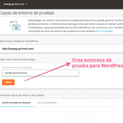 Entorno de pruebas para WordPress de SiteGround