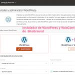Instalador WordPress de SiteGround