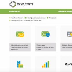 One.com menú principal
