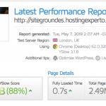 SiteGroundtestdevelocidadconGTmetrix