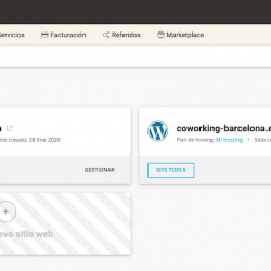 Gestión de los sitios web con SiteGround