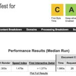 Tes de velocidad a One.com con Webpagetest