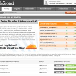 Preintegración de CloudFlare en SiteGround