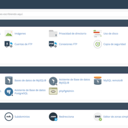 El cPanel de Host Europe