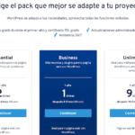 Precios hosting WordPress de IONOS