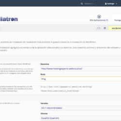 Instalar WordPress con Raiola Networks