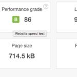 Prueba sobre el hosting SSD de hostinet hecha con Pingdom