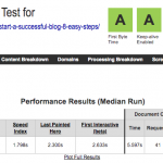 TestdevelocidadenelsobreBluehostconWebpagetest