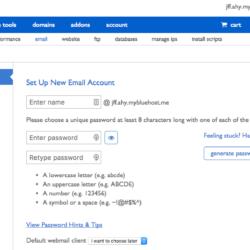 Bluehost - Crear cuenta de email