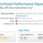 Velocidad de SiteGround con GTMetrix