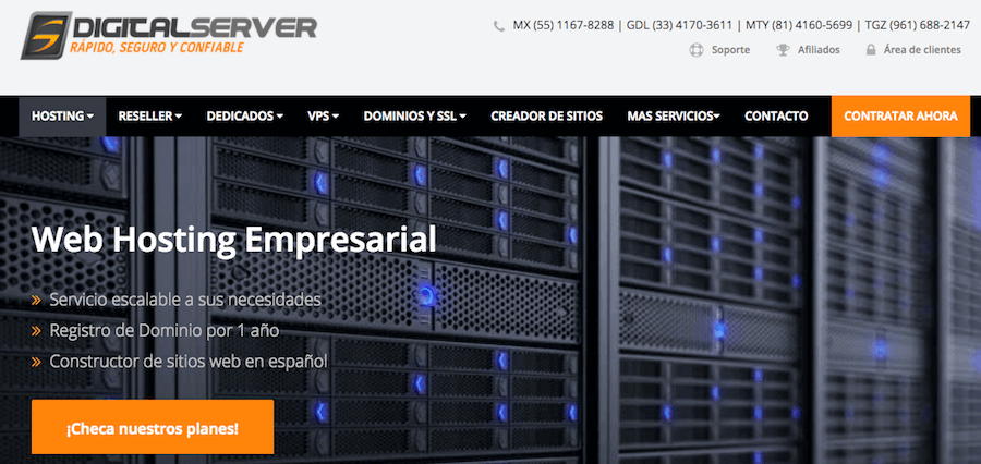 digital server hosting mexico