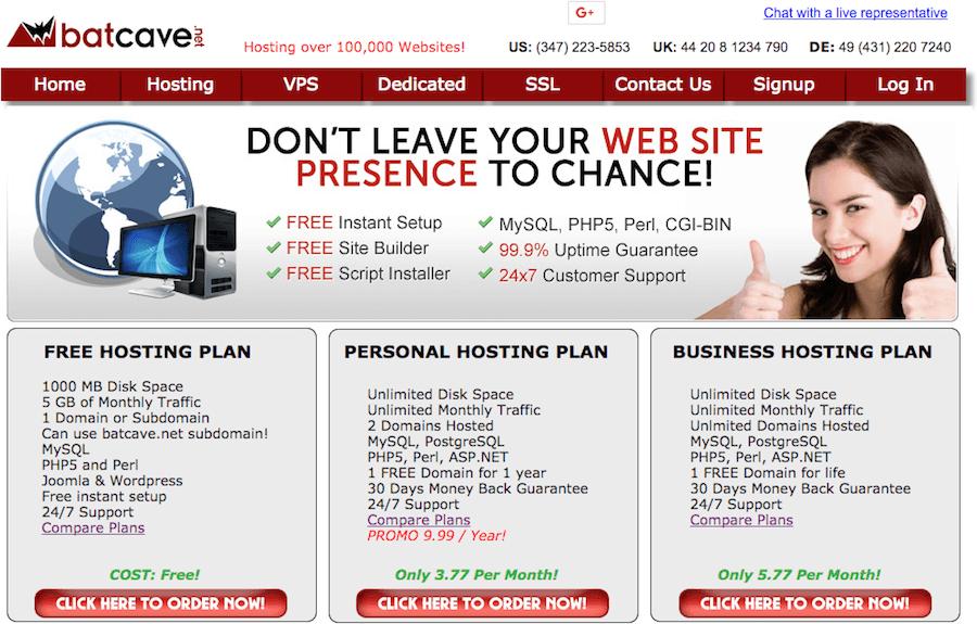 Batcave hosting gratis