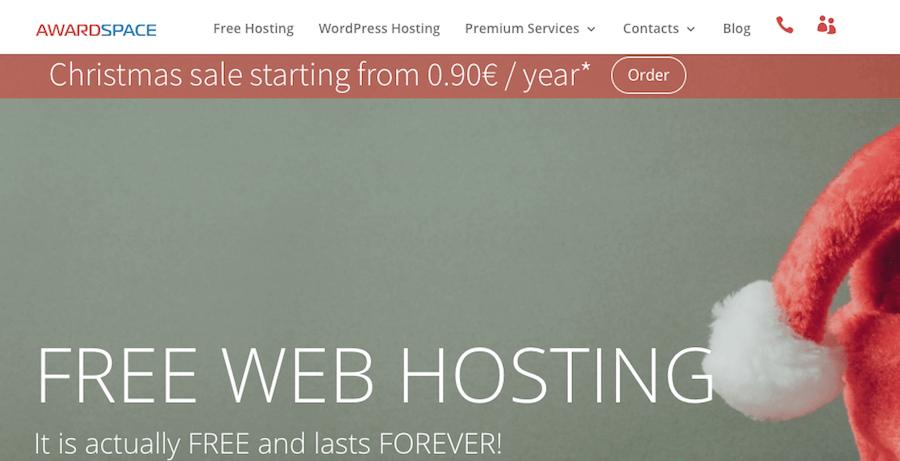 awardspace hosting web gratis