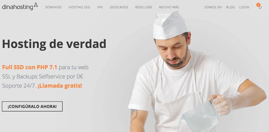 dinahosting sitio gratis
