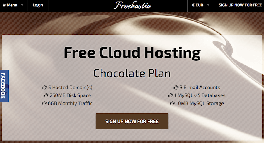 freehostia hosting gratuito
