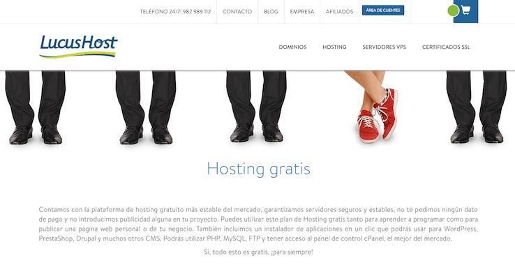 LucusHost , hosting gratuito