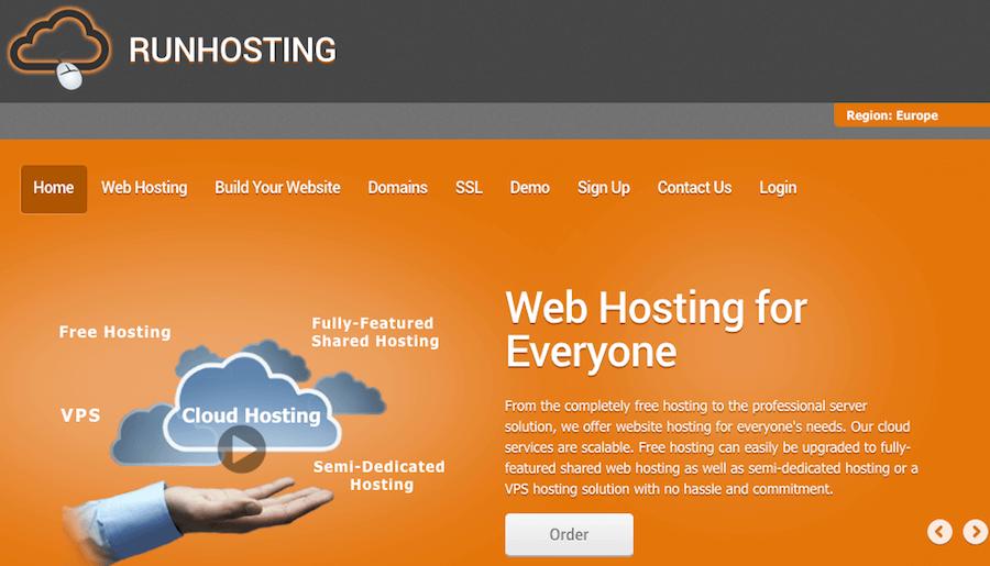 runhosting alojamiento web gratuito