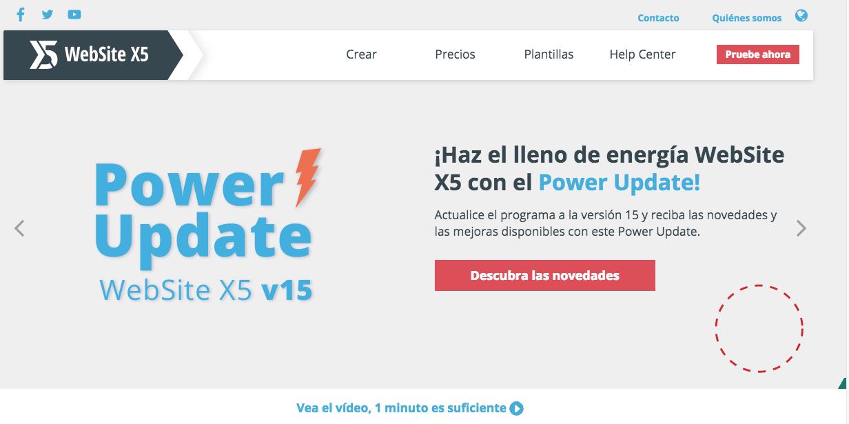 website x5 programa de creacion web