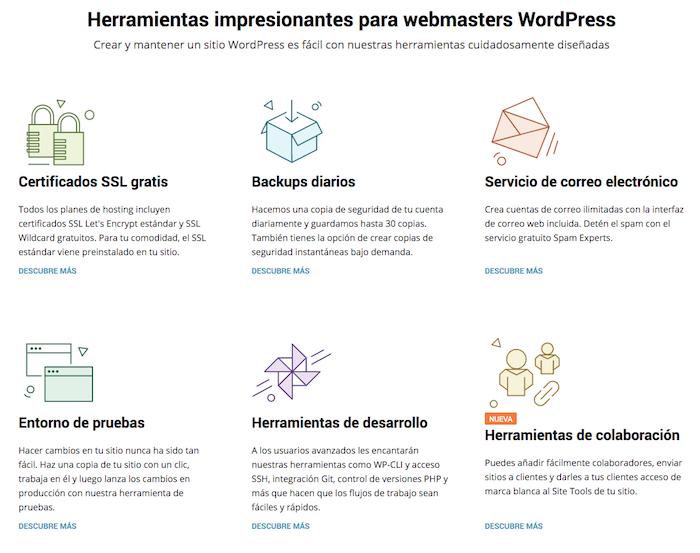 funciones wordpress de siteground