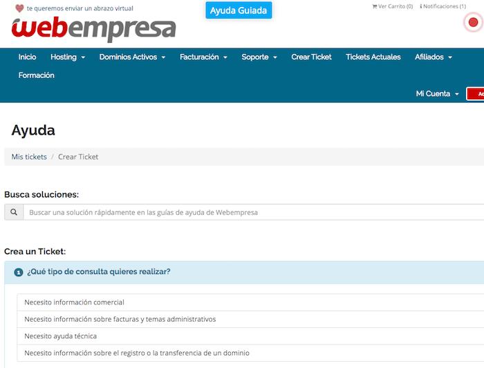 soporte webempresa